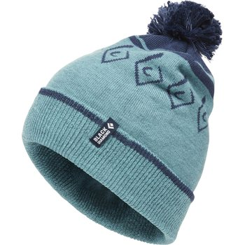 Black Diamond Pom Beanie, Caspian / Ink Blue