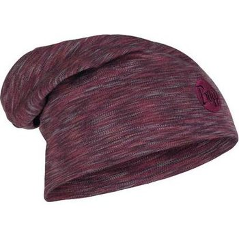 Buff Heavyweight Merino Wool Loose Hat, Shale Grey Multi Stripes
