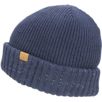 Sealskinz Waterproof Cold Weather Roll Cuff Beanie, Navy Blue, XXL