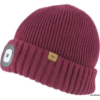 Sealskinz Waterproof Cold Weather LED Roll Cuff Beanie, Red, S/M