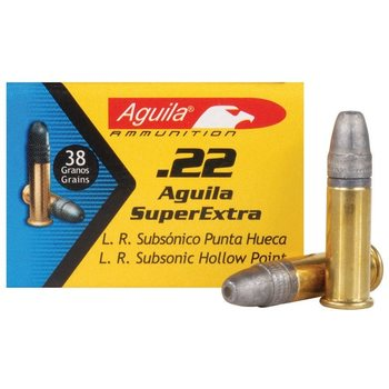 Aguila .22 LR Subsonic Hollow point 312 m/s 50 kpl