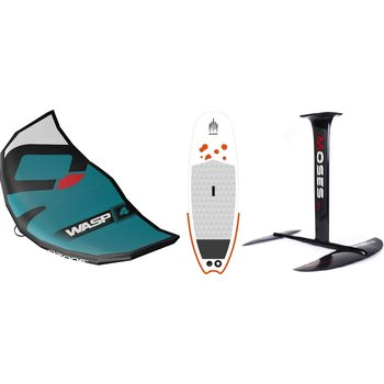 Ozone WASP V1 4m² Wing + Shark SurfSUP + Moses Hydrofoil Surf Foil