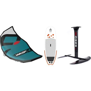 Ozone WASP V1 5m² Wing + Shark SurfSUP + Moses Hydrofoil Surf Foil
