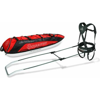 Fjellpulken Pack Sledge X-Country 144 cm ( incl. Reinforced skier shafts & Expedition harness)