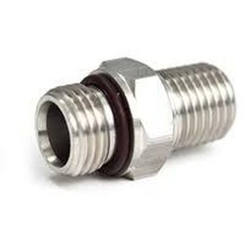 "SS Adapter 9/16""-18 Male to 1/4"" Male NPT"