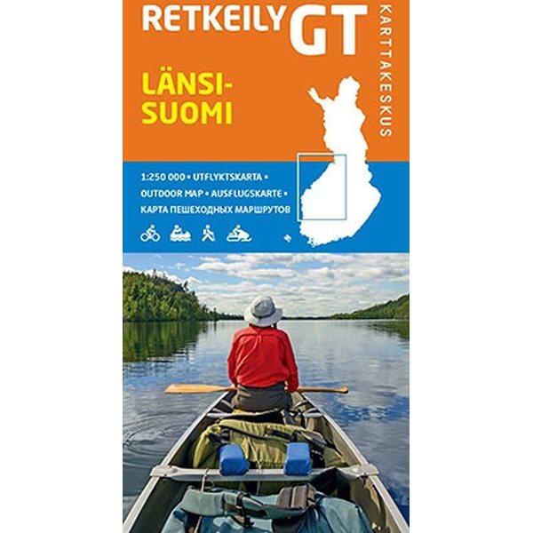 Retkeily Gt Lansi Suomi 1 250 000 2015 Kartor For Camping Och